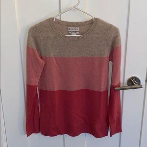 Nanette Lepore colorblock cashmere sweater